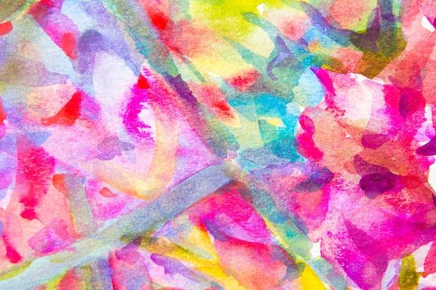 Abstrait main aquarelle peint