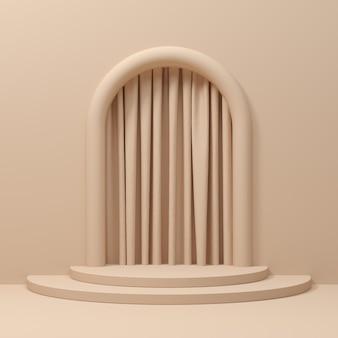 Abstrait, maquette de scène avec forme de géométrie de podium pour l'affichage du produit. rendu 3d