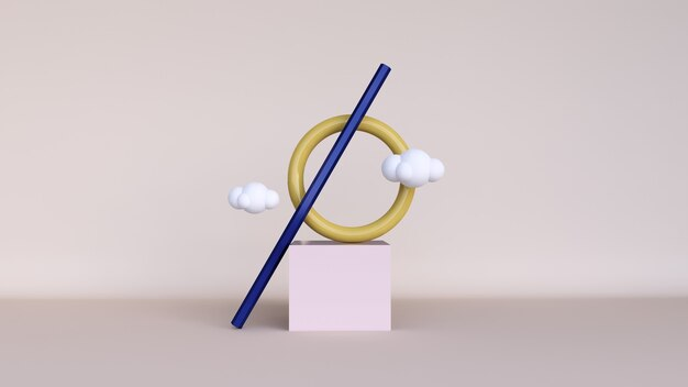 Abstrait, maquette de scène avec podium pour l'affichage du produit. rendu 3d