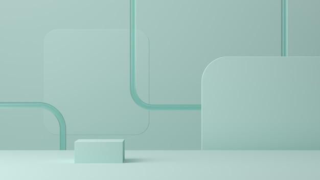 Abstrait, maquette de scène pour l'affichage du produit