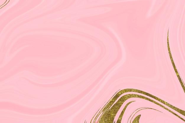 Abstrait en marbre rose et or
