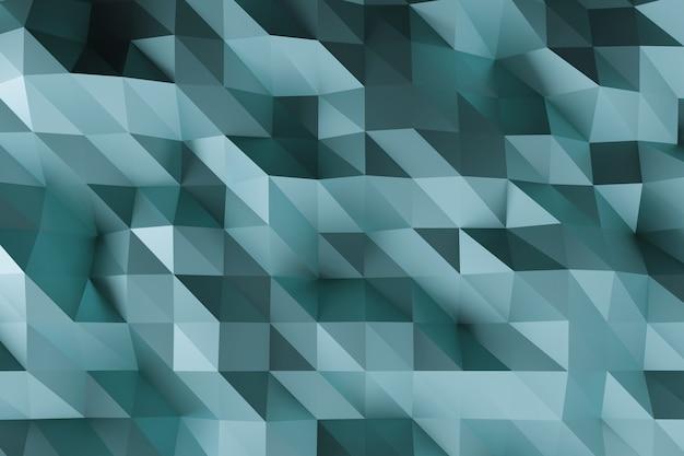 Abstrait mat gris cristallisé à facettes.