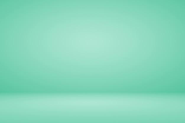 Abstrait menthe verte fond dégradé espace vide studio pièce pour produit d'affichage