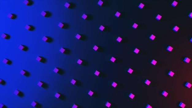 Abstrait avec de merveilleux cubes colorés