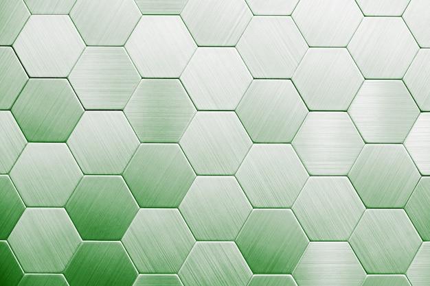 Abstrait en métal argenté. hexagones géométriques.