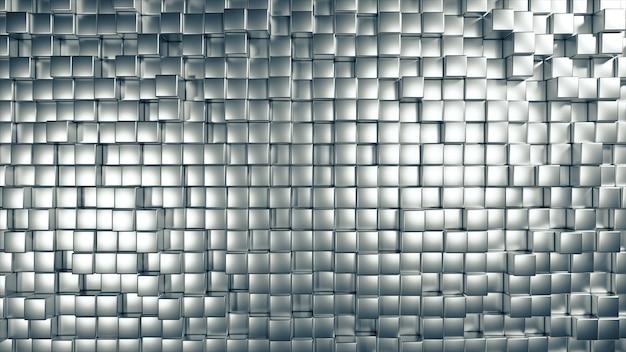 Abstrait de métal se déplaçant au hasard cubes