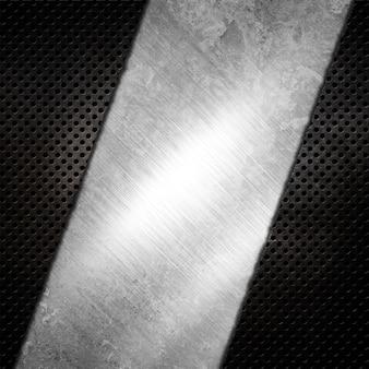 Abstrait métallique avec effet grunge rayé