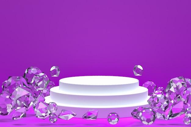 Abstrait minimal de podium blanc pour la présentation de produits cosmétiques ou d'affichage