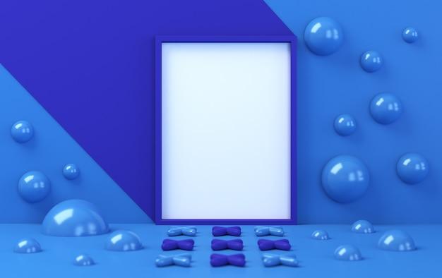 Abstrait minimaliste, figures géométriques primitives, couleurs pastel, rendu 3d
