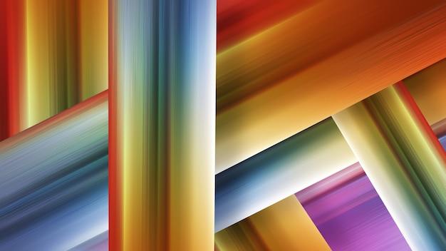 Abstrait moderne avec des rayures multicolores, différentes nuances de design de couleur