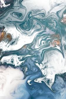 Abstrait à motifs aquarelle bleu et blanc