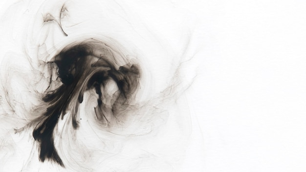 Abstrait à motifs aquarelle noir