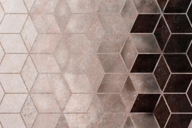 Abstrait à motifs cubiques marron