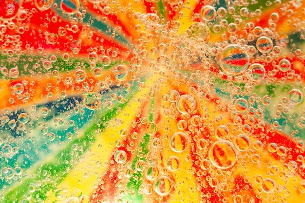 Abstrait multicolore avec des bulles.