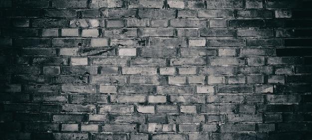 Abstrait de mur de briques noires.