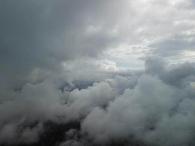 Abstrait nature aérienne été océan coucher de soleil mer et ciel fond naturel ciel avec gonflé