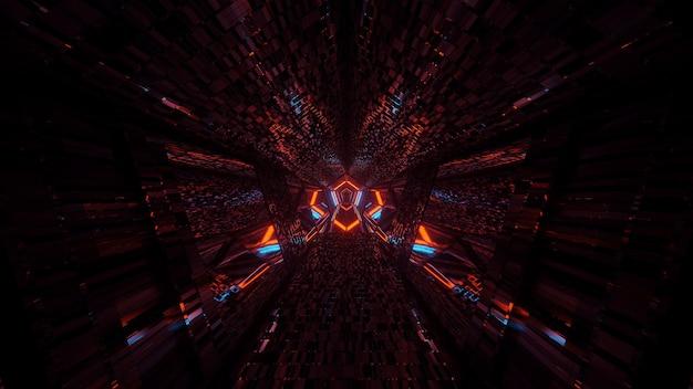 Abstrait avec néons lumineux colorés