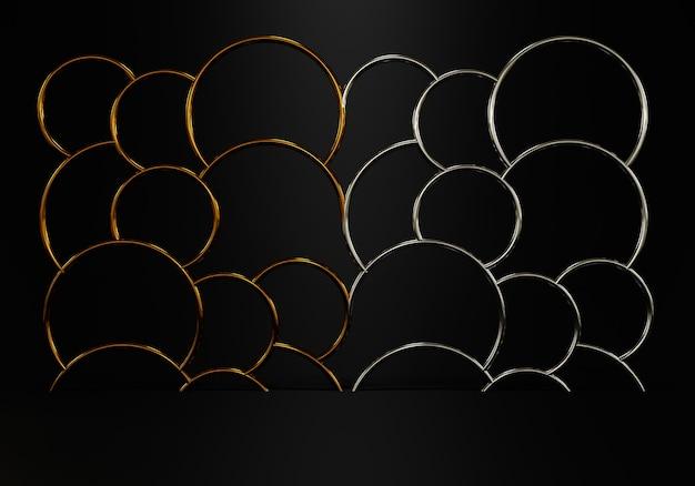 Abstrait noir avec forme géométrique pour l'affichage du produit. rendu 3d photo premium