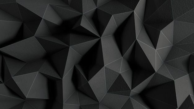 Abstrait noir avec des formes polygonales