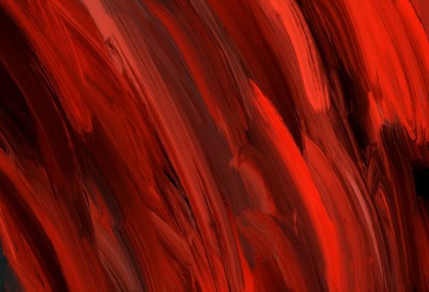 Abstrait noir et rouge profond rayé expressif horizontal