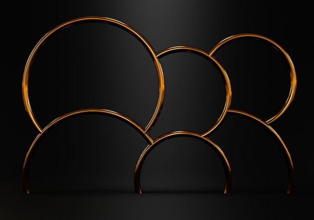 Abstrait noir avec salle vide de forme géométrique pour produit. rendu 3d photo premium