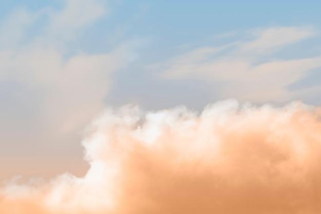 Abstrait avec nuage orange