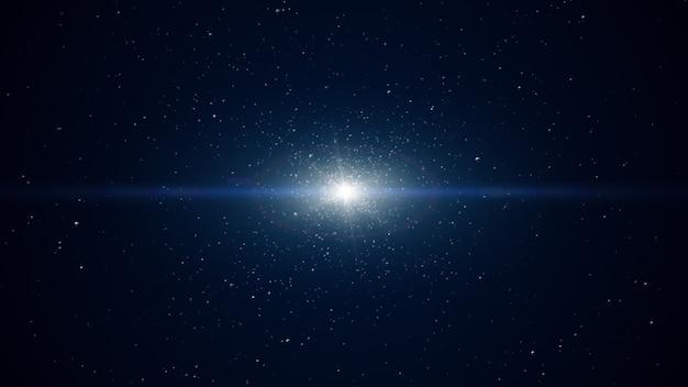 Abstrait numérique bleu avec des particules d'onde