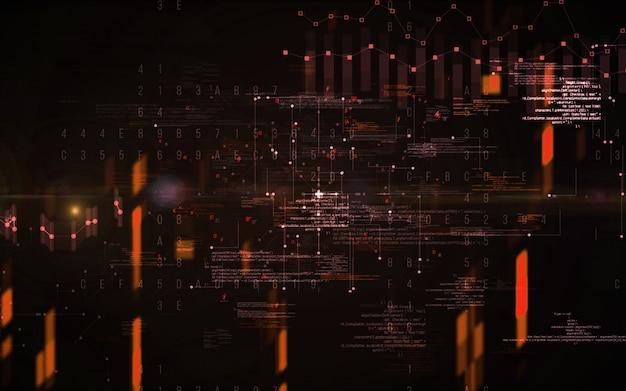 Abstrait numérique. concept de technologie de l'information futuriste big data. chaîne de bloc