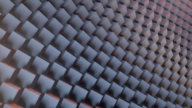 Abstrait numérique fou de cubes 3d. rendu 3d.