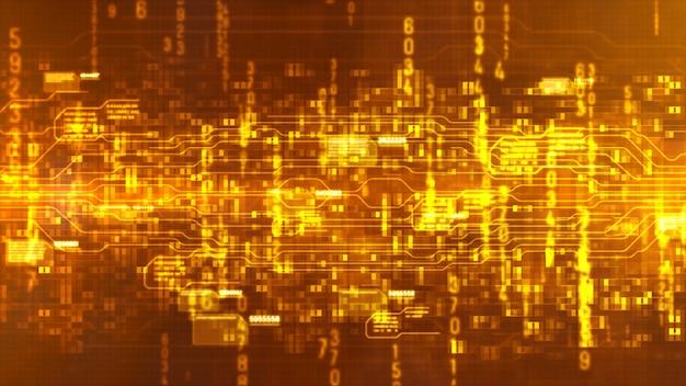 Abstrait numérique hi-tech