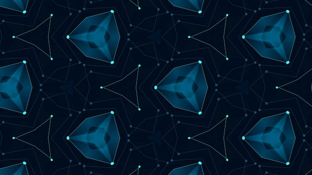 Abstrait numérique reliant les points et les lignes. données sur les technologies de l'information