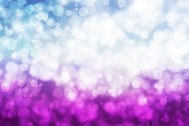 Abstrait octogone bokeh fond bleu blanc violet dégradé
