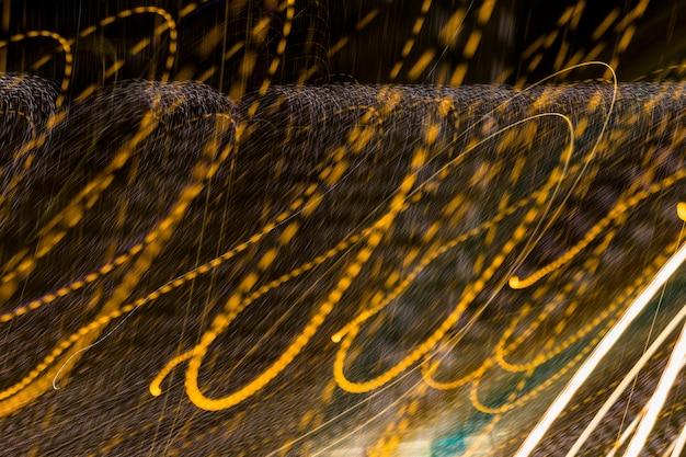Abstrait d'onde de lumière dorée