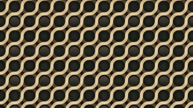 Abstrait or avec motif ondulé géométrique