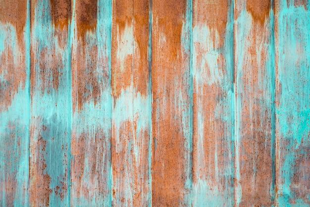 Abstrait avec orange et cyan sur le mur