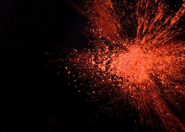Abstrait orange éclaboussé de poudre