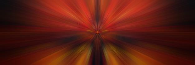 Abstrait orange. flash lumineux de lumière. explosion légère du point central.
