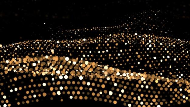Abstrait de paillettes. des étincelles et des reflets d'or.