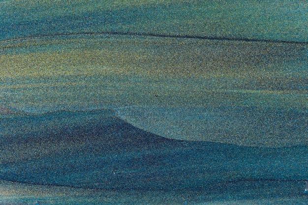 Abstrait De Paillettes Vert Bleu Foncé. Fond Aigue-marine Avec Texture De Paillettes Bleues Scintillantes. Espace De Copie Photo Premium