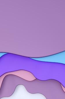 Abstrait papier coloré coupé fond de bannière art