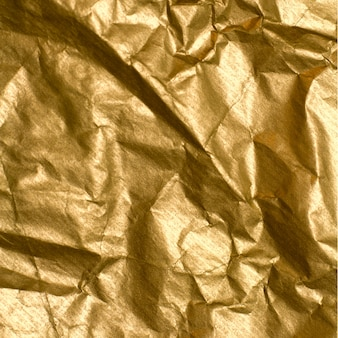 Abstrait de papier doré froissé
