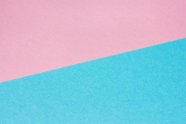 Abstrait de papier rose et bleu, texture