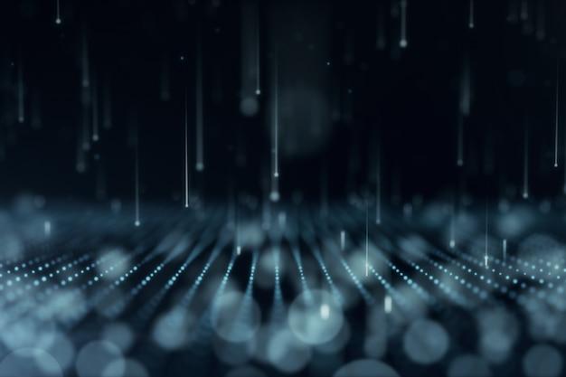 Abstrait avec des particules mobiles et scintillantes