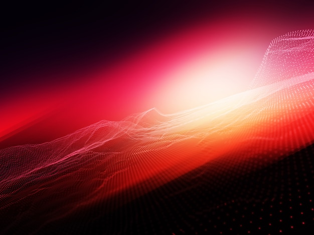 Abstrait avec des particules de particules qui coule sur fond flou brillant