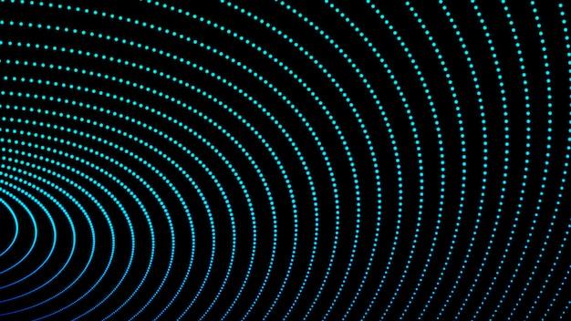 Abstrait des particules de la vague numérique qui coule