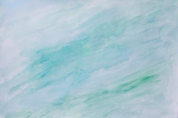 Abstrait peint aquarelle coloré - couleurs bleues et vertes