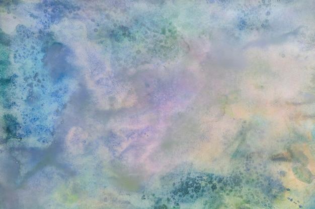 Abstrait peint aquarelle coloré - couleurs bleues, violettes