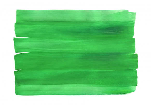 Abstrait peint à la main verte