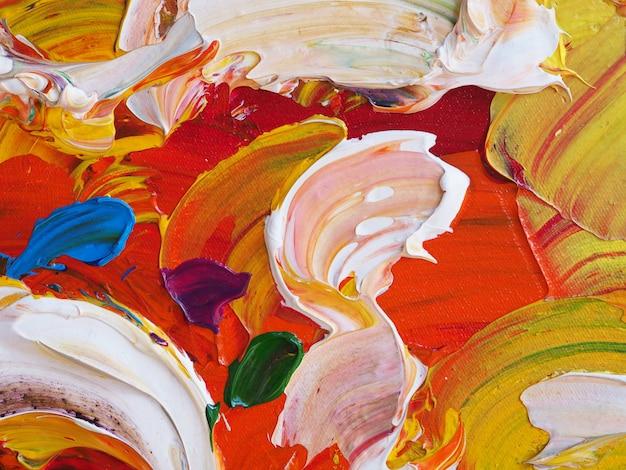 Abstrait de peinture colorée et de la texture.