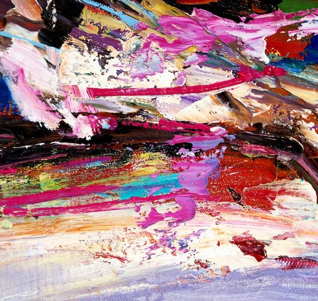 Abstrait de la peinture à l'huile multi couleurs.